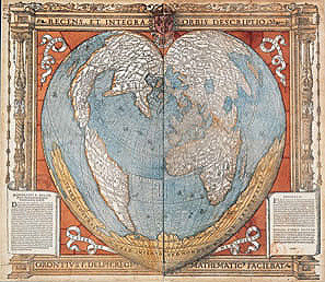 Fine Oronce, Map of the Austral Earth, Paris, 1536, engraved on wood.