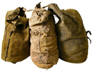Gathering bags of Penobscot Indians of Maine