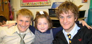 Justin, Maya and Shane
