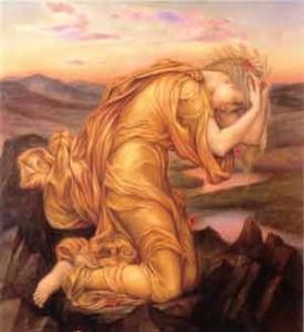 Demeter Mourning Persephone 1906 - de Morgan