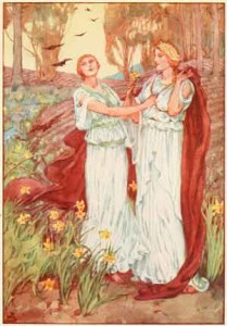 Proserpine and Ceres from A Book of Myths