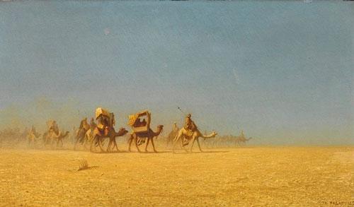 Caravanes traversant le désert by Charles Théodore Frère,Musée des beaux-arts de Reims