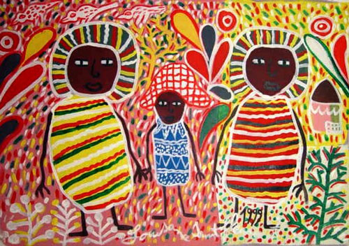 Painting by Haitan Artist Louisiane St Fleurant, 1999